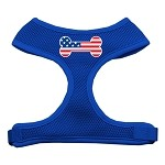 Bone Flag USA Screen Print Soft Mesh Harness Blue Small
